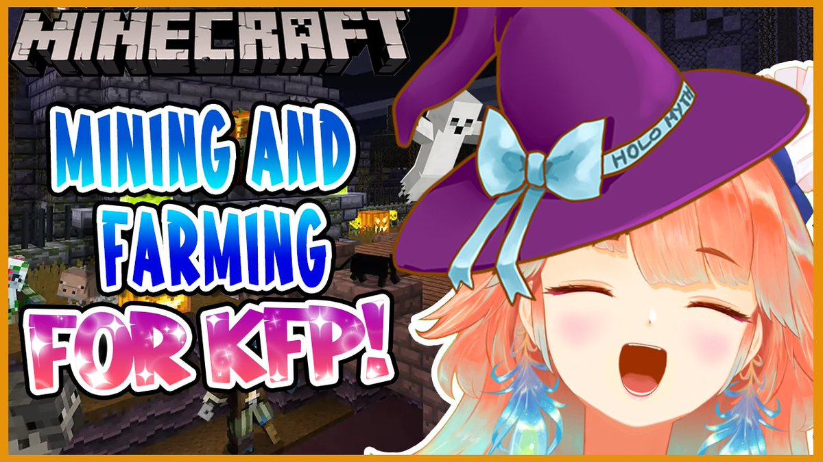 Next stream ♪31st OCT 2PM JST (or check your timezone by clicking the URL) 日本時間2時から!マイクラ!Mining and farming materials for a future KFP building and finding the right location~~!!