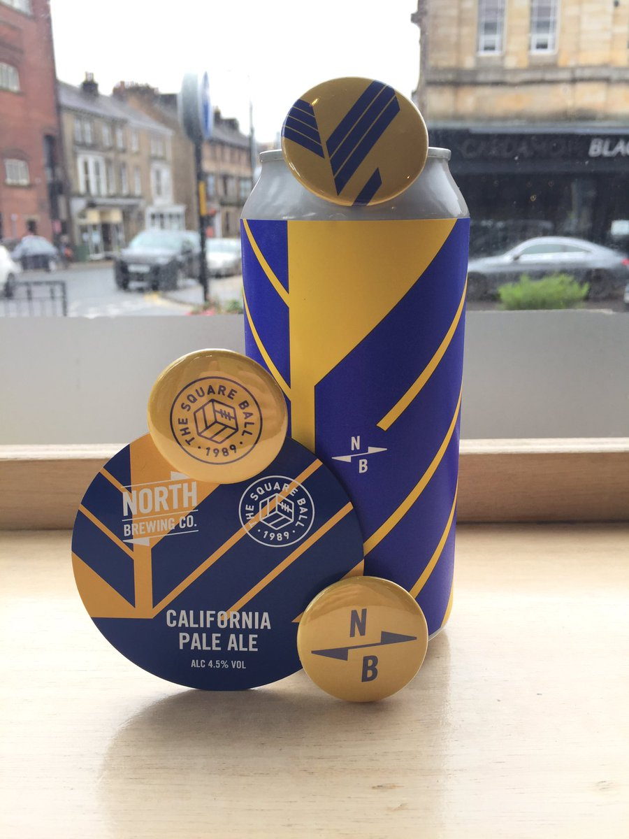 ITS BACK!! @northbrewco x Squareball California Pale back with some badges for all you merch lovers out there!! And if you're feeling in the football mood go for a hat trick and get yourself a growler for your #takeaway draft beer #harrogate #beerlover #california #leedsunited
