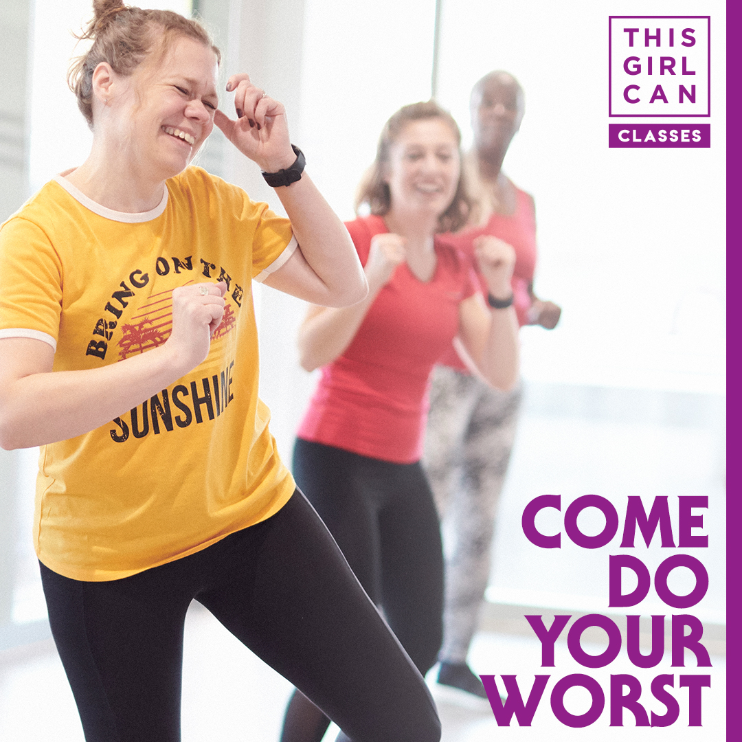At #ThisGirlCan new fitness classes, even if you go the wrong way, you'll still be heading in the right direction.  Come do your worst. 😅 Book now 👉 https://t.co/hklrbvd6LJ