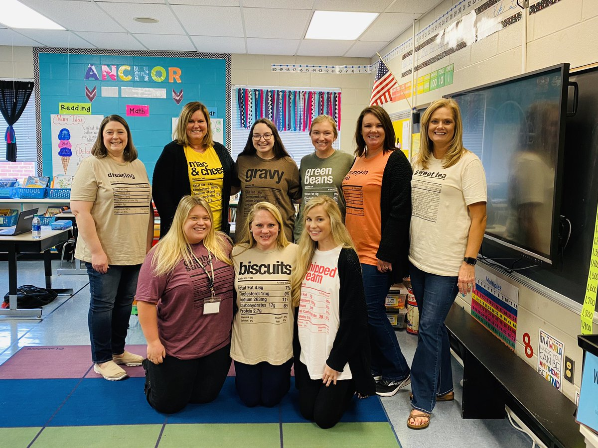 There's no turkeys in this bunch! #dressing #macncheese #gravy #greenbeans #pumpkinpie #sweettea #whippedcream #biscuits #cranberrysauce #3rdgradeteam @McAdoryES @JEFCOED https://t.co/TyYRNRKYGi