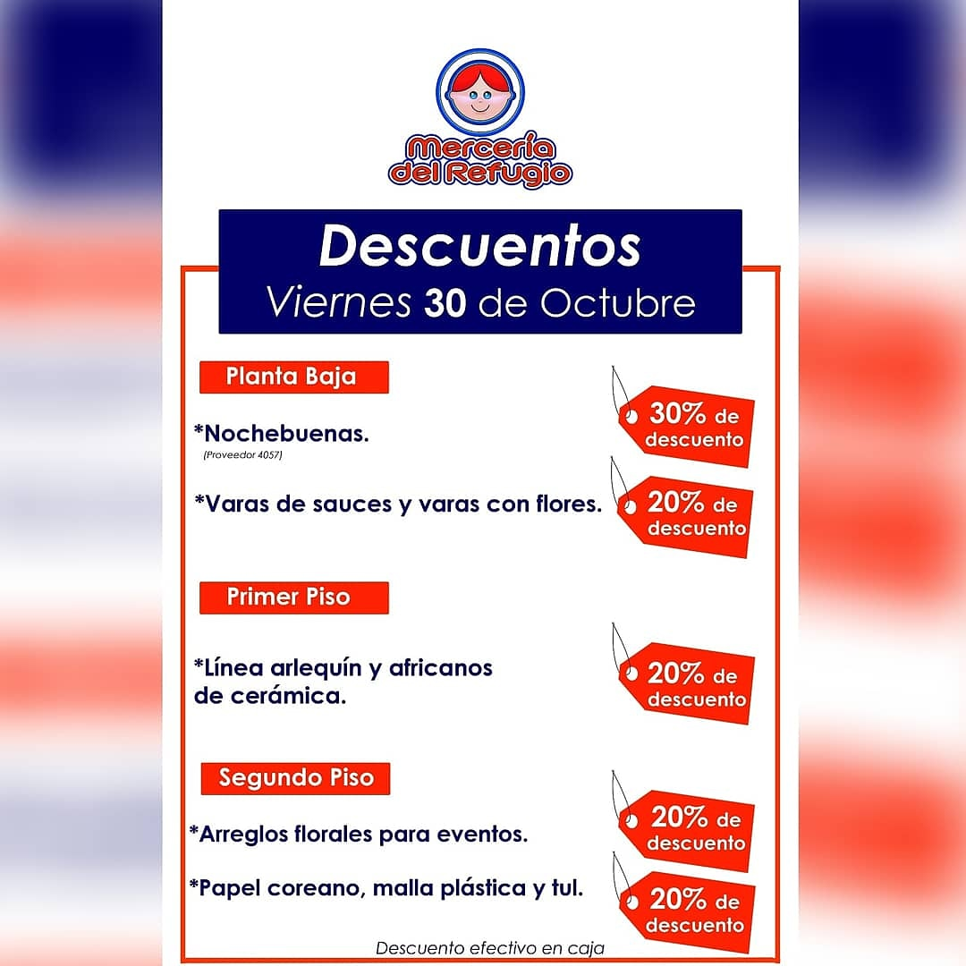 Día de DESCUENTOS en el comercio más antiguo de la Cdmx. #BuenosDiasATodos  #FelizViernesATodos  #FelizViernes  #DiaDeMuertos #cdmx #noticiasparadespertar  #Hoy #descuentos  #30Oct  #MetroCDMX  #Metrozocalo #ventas  #MerceríadelRefugio  #rt #compras  #economiamexicana #Noticias https://t.co/nQwcsz1WK7