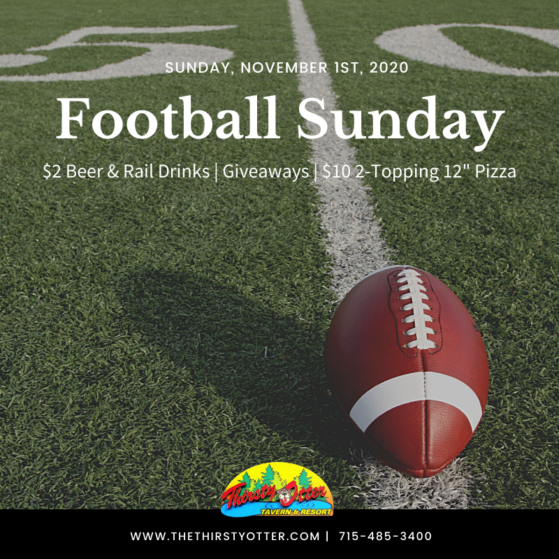 Join us this Sunday for #SundayFunday during the football games! 🏈  Starting at noon we will have:  $2 Domestic Beer and Rail Drinks  $10 2-Topping 12