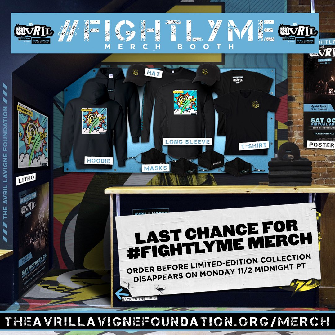 HURRY! Get your #FightLyme merch before it disappears Monday! I'm hand-signing the numbered, limited-edition lithos & love every item in this very special line!! 100% net proceeds to @AvrilFoundation to benefit the Lyme community. Buy now at: