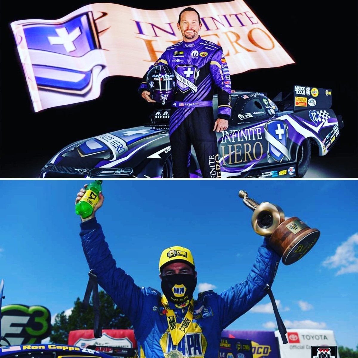 @NHRAs Ron Capps & Jack Beckman are among multiple #NHRA racers helping @scclasvegas raise funds in our online auction, NHRA4SCC.givesmart.com! BID to enjoy a 20-minute @Zoom call with them. @LVMotorSpeedway @nsrlasvegas #lasvegascharity #lasvegasmotorspeedway #scclv #NASCAR