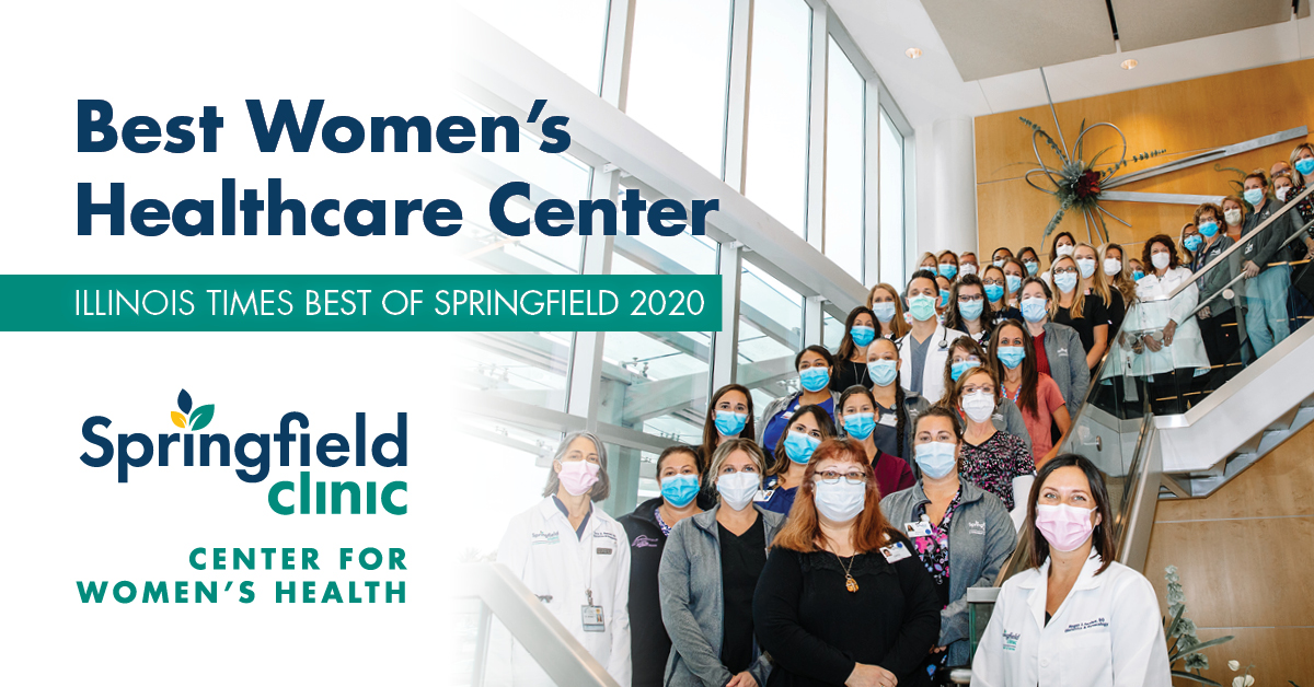 Springfield Clinic is thrilled to be recognized as the Best Women's Healthcare Center, Best Plastic Surgery Center and Best Medical Spa in the Illinois Times Best of Springfield awards!   Our focus continues to be on our patients and this wonderful community. We appreciate you.