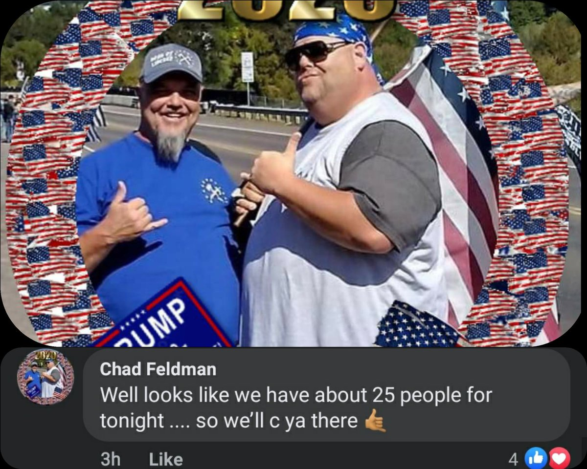 Here are the rumors chuds are spreading of rioting last night and explosives targeting bridges. Donnalyn is not even from here but shows alot with her Nazi Buddy Jimmy Willingham. ProudBoy Chad Feldman that knocked out a women with his cast on A22 has 25ppl coming 3/...