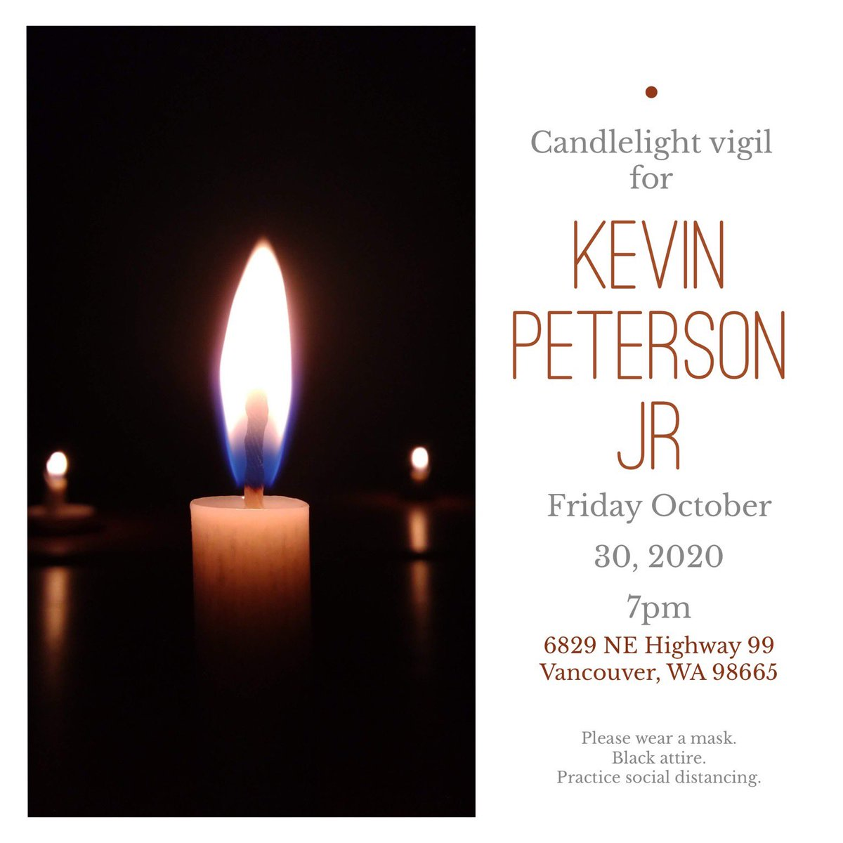 This is just sad. I watched family break down in the middle of the street over the loss of  #KevinPetersonJr and now Far-Right chuds are planning on harrassing a Vigil for him tonight. Ill add to thread about the threats last night and chatter I hear about tonight. 1/