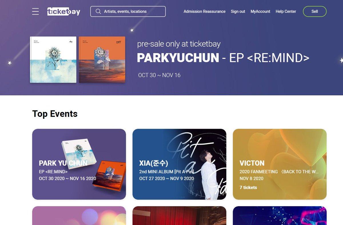 ユチョン応援blogより→「RE:mind」チケットベイでのアルバム購入方法#ยูชอน #ユチョン #Parkyuchun #박유천 #REmind ⇒