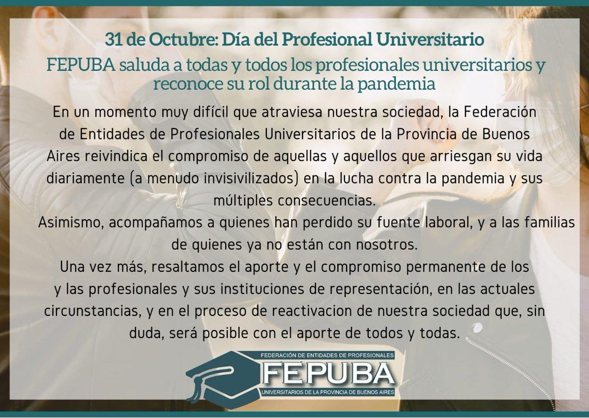 El 31 de octubre se celebra el Día del Profesional Universitario  Saludamos a todos y todas los profesionales en las vísperas de su día!  👉https://t.co/jc5JYLxhgf #argentina #profesional #profesionales https://t.co/oajfe8Kw2f