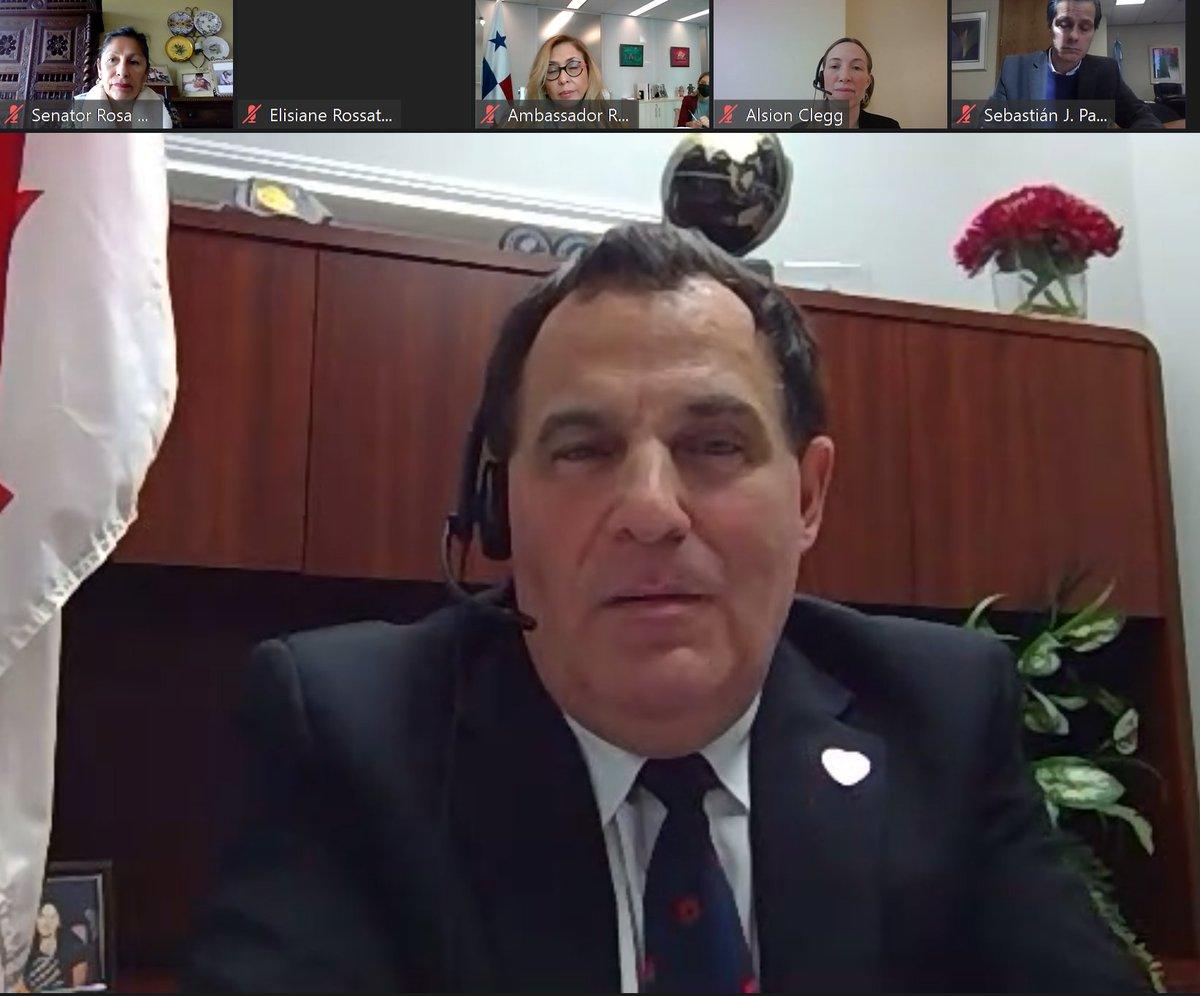 .@MarcSerreMP, président, et d'autres membres de #CPAM se sont adressés aux représentants des pays membres de @ParlAmericas réunis pour célébrer le Mois du patrimoine latino-américain et ont parlé des liens profonds du Canada avec les pays de l'hémisphère https://t.co/4S9R6017me