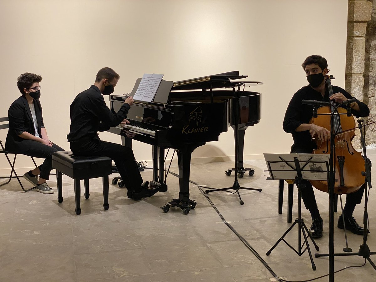 Así luce la Sala Caballerizas de @molinosriomurci con el concierto de Miguel Torres y Alberto Picò en el #XIIIJovenesSolistas #Murcia #culturasegura https://t.co/X2EnWNE2z7