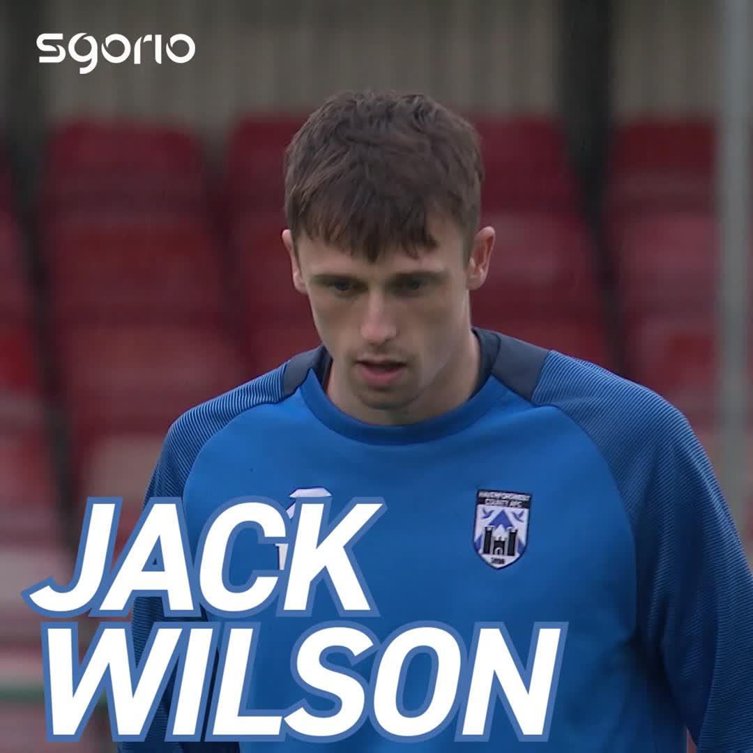 Image for the Tweet beginning: 🔵⚪️ JACK WILSON  Prif grëwr @haverfordwestfc