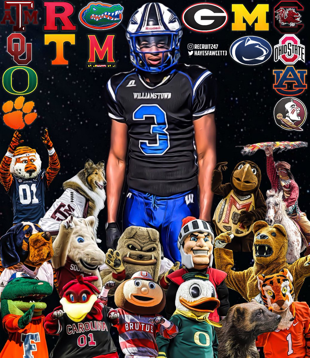 BREAKING: 5 🌟 Safety Keon Sabb (2022)has just cut his 3️⃣2️⃣Offer List down to 1️⃣5️⃣ Schools The 6'3 195 Prospect from Williamstown, NJ is ranked #8 Nationally, the #1 Safety, and #1 in New Jersey according to the Top247 Rankings
