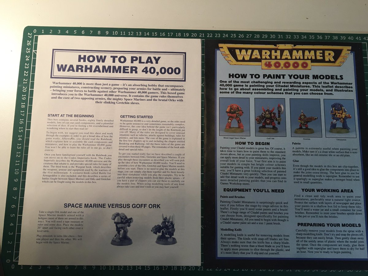 Just in case you were wondering if the game had changed much..... #oldhammer #WarhammerCommunity https://t.co/dHj78dEXxz