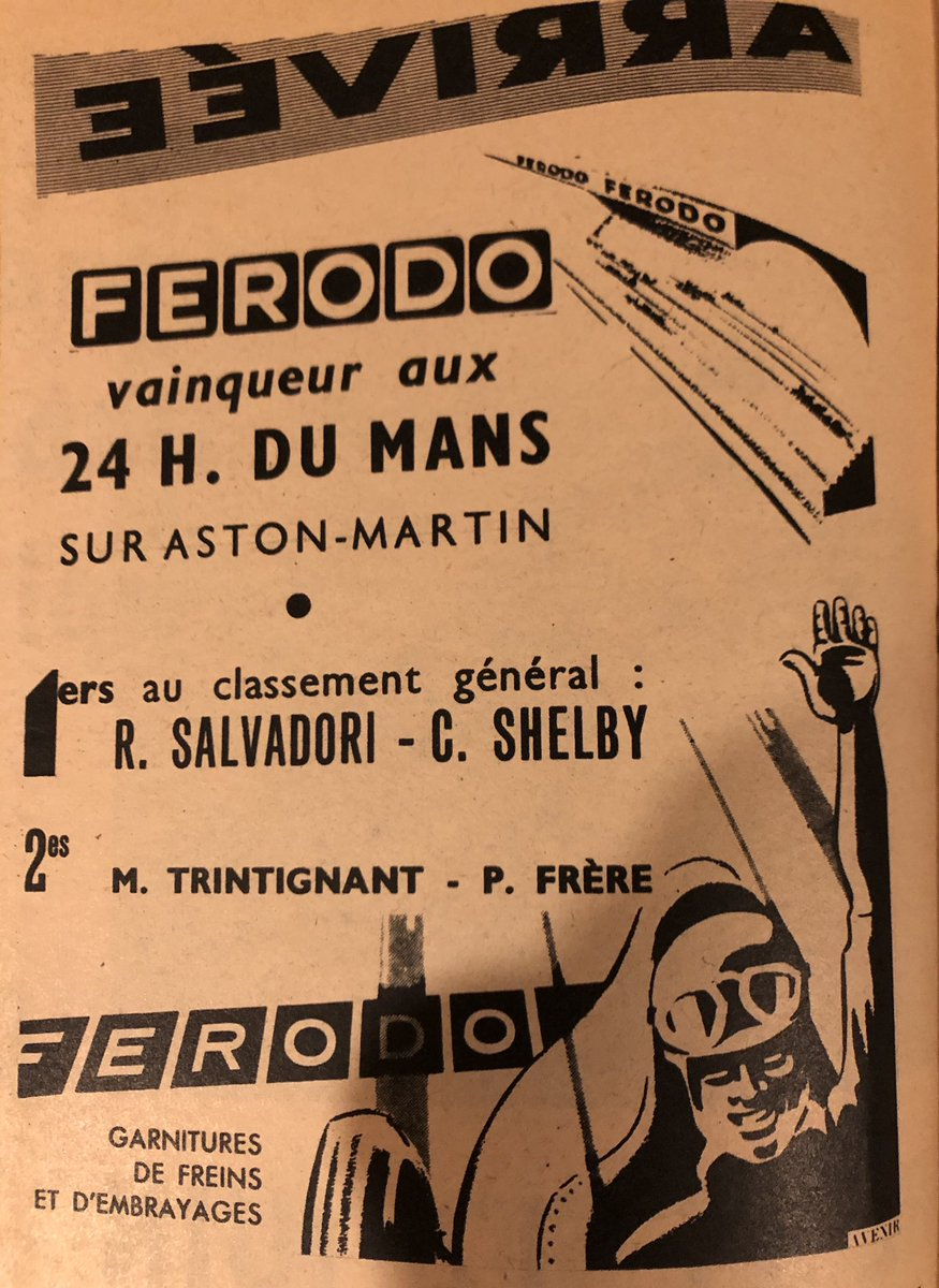 From French auto tourism magazine 1959 @lemansclassic @astonmartin @lemans https://t.co/5QNRzkkOhg