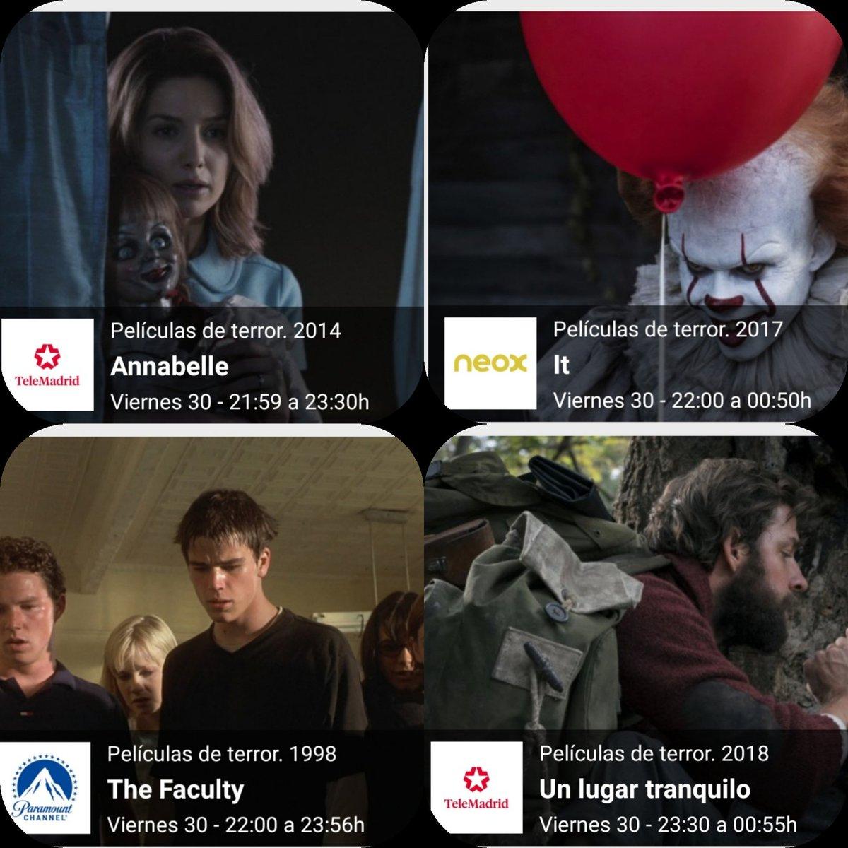 A Mi También Me Gusta El Cine De Terror On Twitter ℹ Hoy Viernes Noche De Halloween En Recuerda Tv Abierto Tdt 8 Películas Para Disfrutar Hora Y
