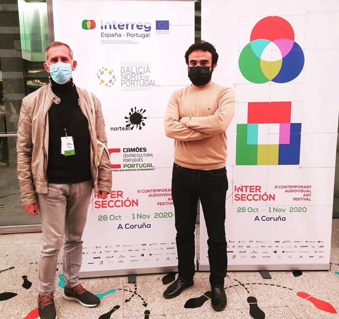 A AECT da Eurorrexión Galicia - Norte de Portugal apoia a #culturasegura e a colaboración galego-portuguesa,  a través dun encontro entre creadores e artistas celebrado hoxe no festival de Arte Audiovisual Contemporáneo #Interseccion na Coruña. https://t.co/lTZRTdBZJn