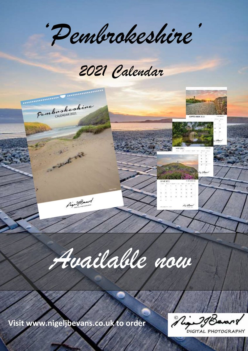 #Pembrokeshire is in lockdown so why not let it come to you and stay with you ALL next year,  order my 2021 Pembrokeshire Calendar here https://t.co/4hh4qZFhGI #Wales #Coast https://t.co/Pl0gJrkX9v