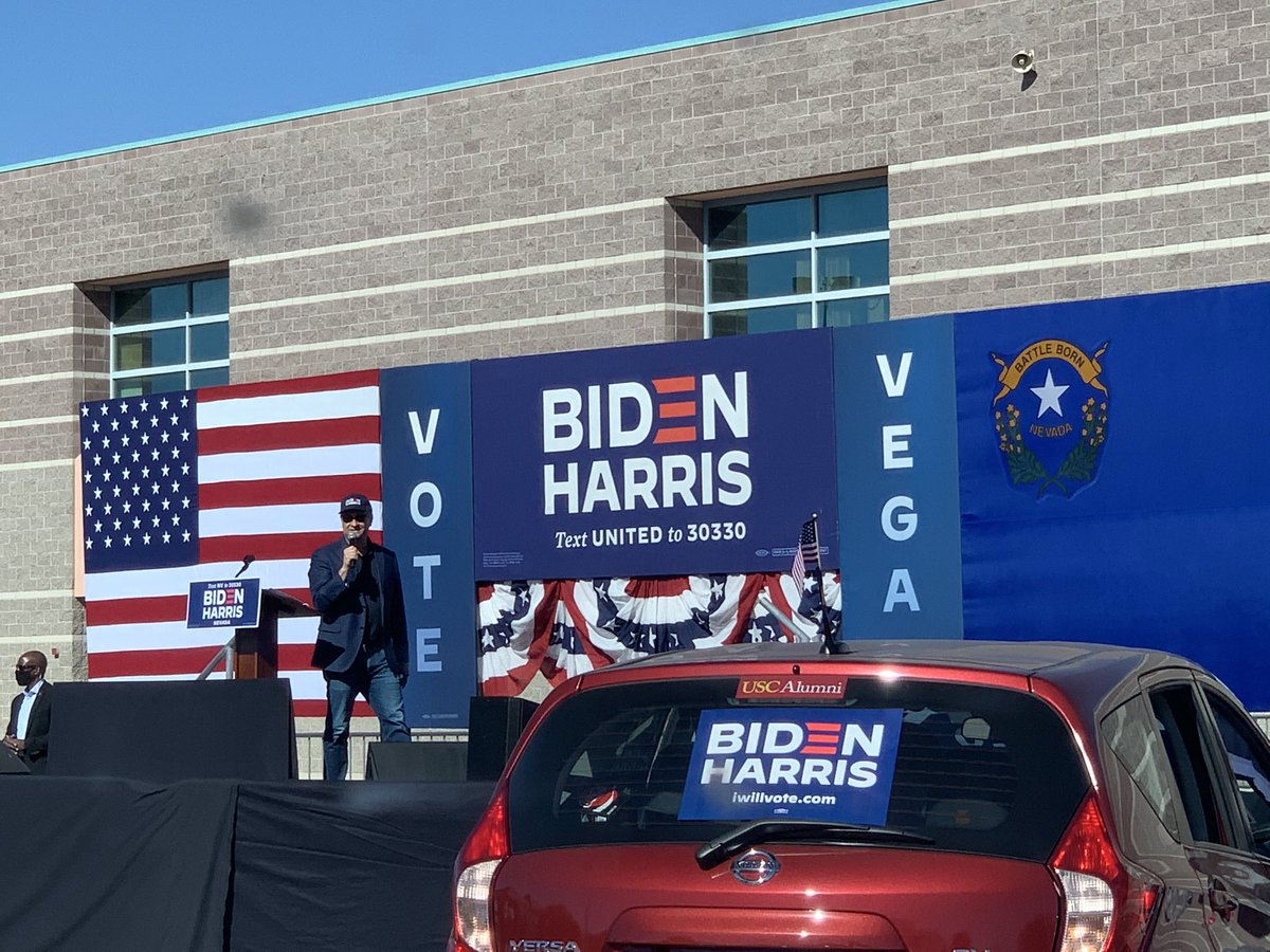 We've got the trifecta today y'all: 🌵 Nevada Day (observed!) 🗳 Last day of early vote ✨ @DouglasEmhoff kicking off GOTV weekend We have 4 days to get the job done for @JoeBiden, @KamalaHarris, & @nvdems down the ballot!! Go vote today: iwillvote.com