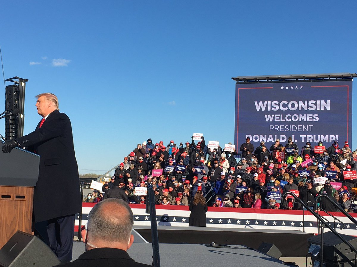 Gotta love the #MAGA rallies. President @realDonaldTrump fires up Wisconsin for an #Election2020 victory.