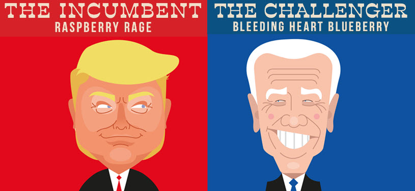 2020 Election Flavored #Vodka.  The Challenger: Bleeding Heart Blueberry vs.  The Incumbent: Raspberry Rage  Neither Flavor is Exceptional. But One Must Win. (Somebody had to do it. And yes, this is real.) https://t.co/RbYtI2HwaL https://t.co/YLfF3e1UeK