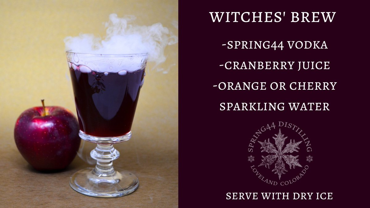 """For a charm of powerful trouble, like a hell-broth boil and bubble."" 'Tis the season for witches' brew. We'll take ours without the eye of newt and toe of frog, thanks.  #spring44 #halloween #witchesbrew #cocktails #vodka #dryice #shakespeare https://t.co/KqLsXAvLMK"