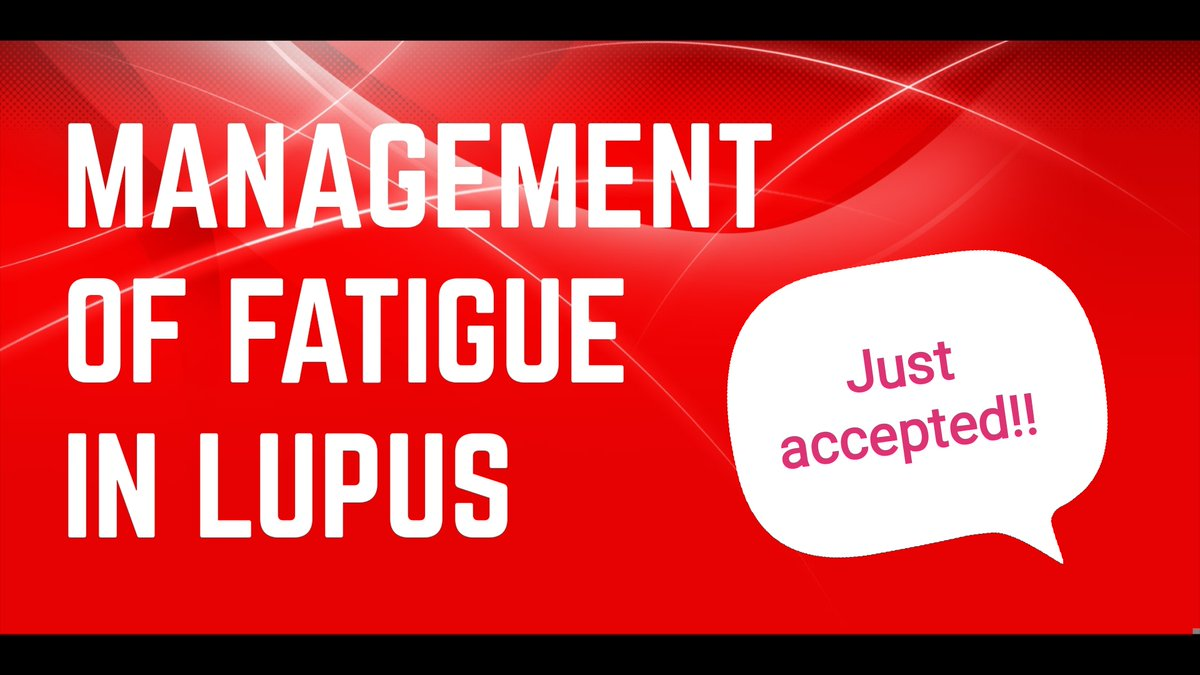 "🎉So happy to share  that the latest paper from my group @CRMR_RESO ""Towards a practical management of #fatigue in systemic #lupus"" has just been accepted 👍 in @Lupus_SM  I will share 🗣️ the full paper 📑 as soon as it is online as it will be #openaccess 🔓 https://t.co/MFgeqYvHB4"