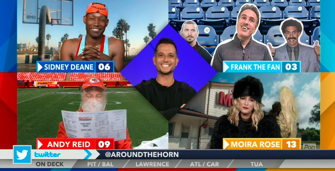 .@AroundtheHorn & @TonyReali always go big for #Halloween Well done to today's panel, now on ESPN.