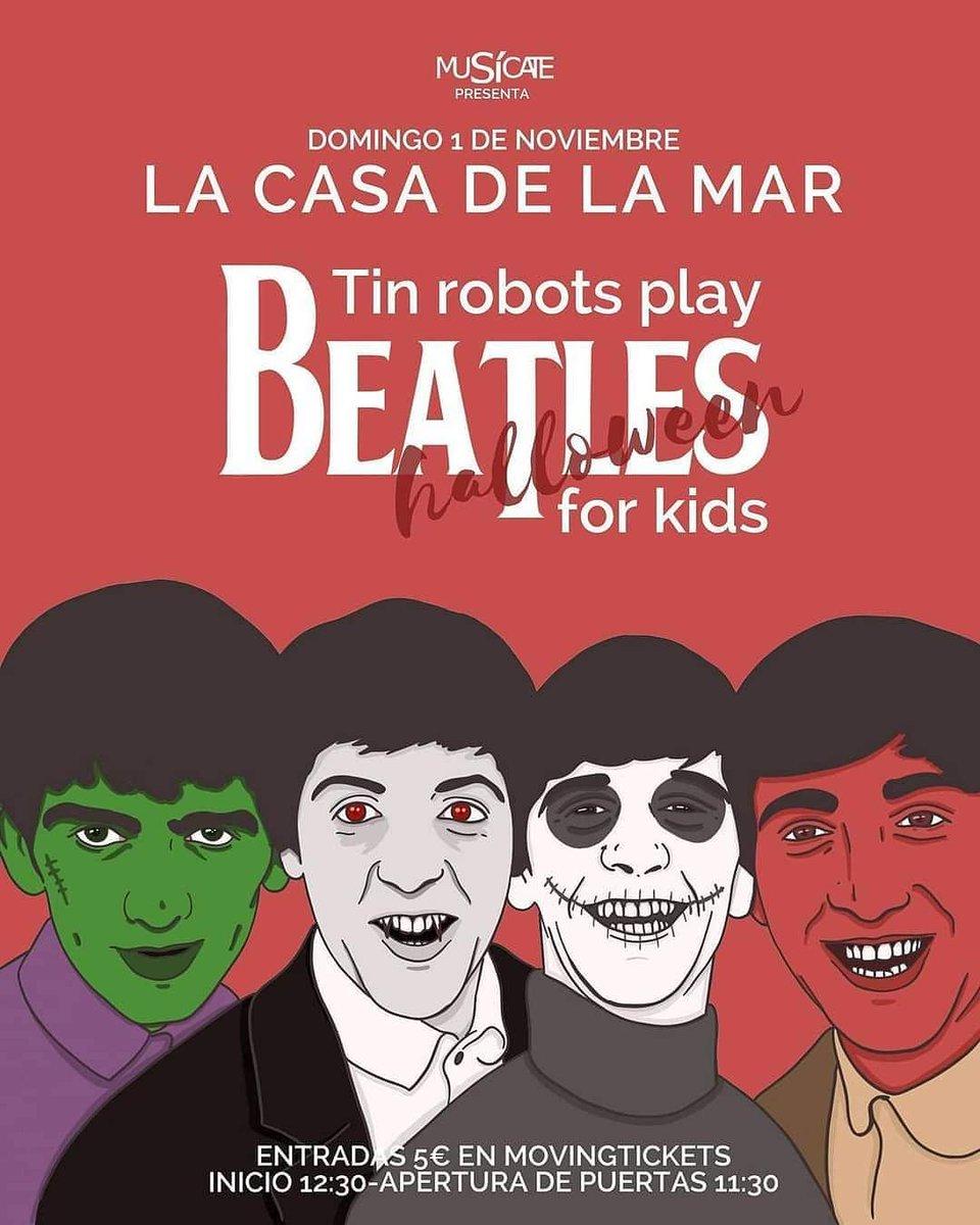 Las mejores canciones de #TheBeatles recreadas para que las disfruten grandes y pequeños: es #BeatlesforKids y su próxima entrega domingo 1NOV en #LaCasadelaMar a la hora del aperitivo 😊 Entradas 🎟 https://t.co/qaMEO9jD2H 🎟 #culturasegura #planesconniños #alboraia https://t.co/y6CkdzgWsj