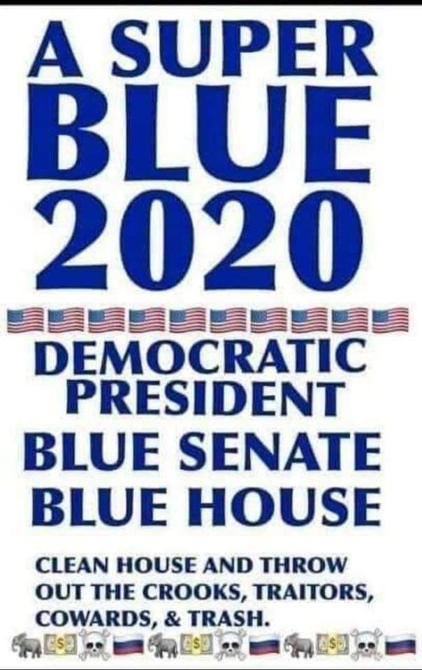 🔹Send Trump Packing🔹 🔹If we want change it's up to us🔹 🔹Tell your family, friends and neighbors to get off their a** and vote🔹 @Scott_5D @garym27 @GulliAz @verbalese @WSpersists @RN00711 @ann_neona @JWeber988 @1Chance2020 @mmpadellan @JustBella #VoteBlueDownBallot