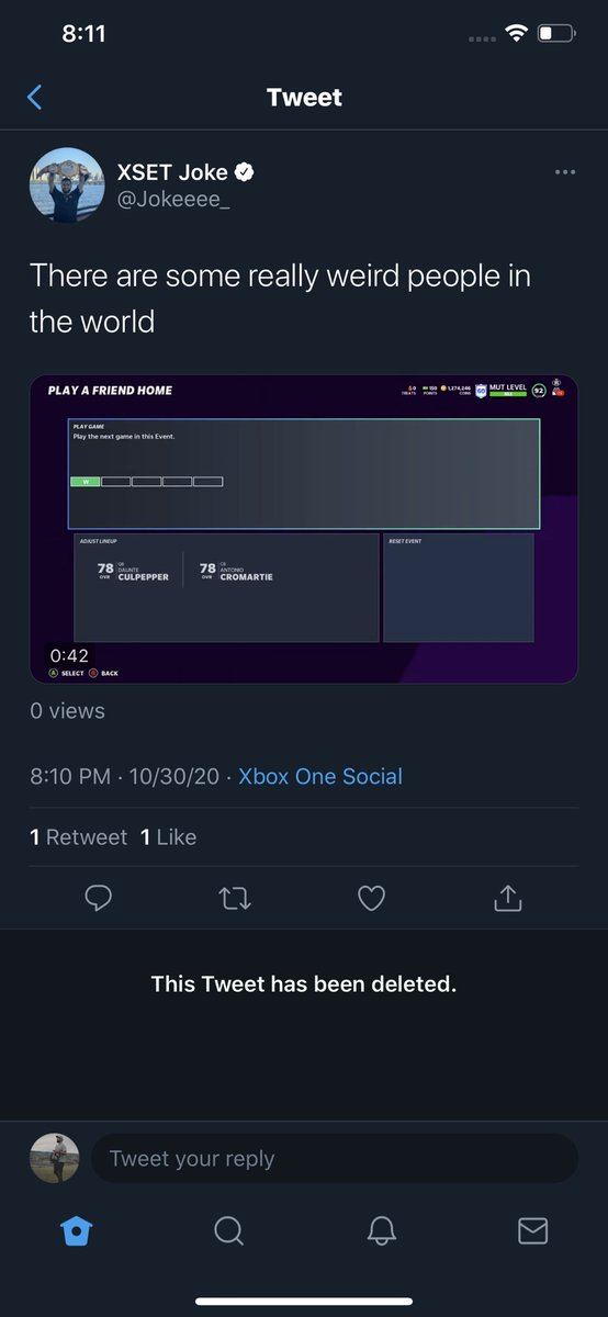 @ItsaBlitz Maybe but joke just tweeted this out then deleted soooooo... to only have one W you gotta reset your line up. Why'd he delete this tweet?  Only way is if he could've quickly tweeted out a screen shot showing two W's or two games played. https://t.co/YigxlO2S72
