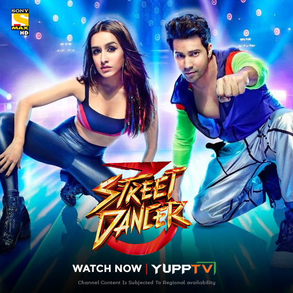 A coming-of-age story based on the lives of street dancers.  Watch #Bollywood superhit dance drama #StreetDancer3D starring @Varun_dvn & @ShraddhaKapoor on Catch up of @SonyMAX at https://t.co/AGpZjEEGcz #YuppTVAPAC #YuppTVEU *Channel content is subjected to regional Availability https://t.co/Gfl1aPIog0