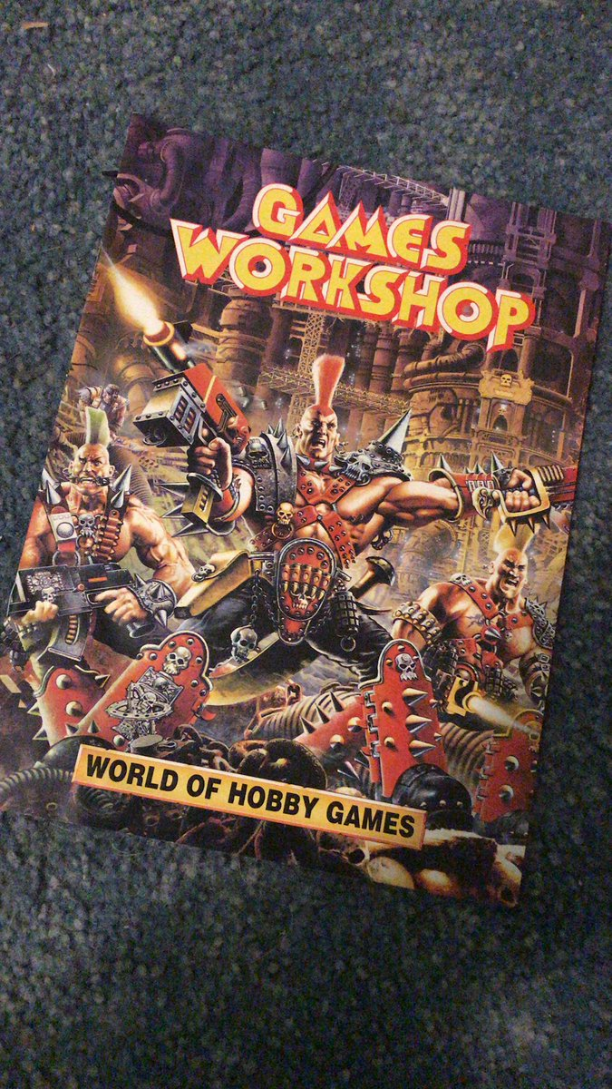 Old school Games Workshop catalogue from the 90s #oldhammer #warhammer #miniatures https://t.co/tzsa3nnRKU