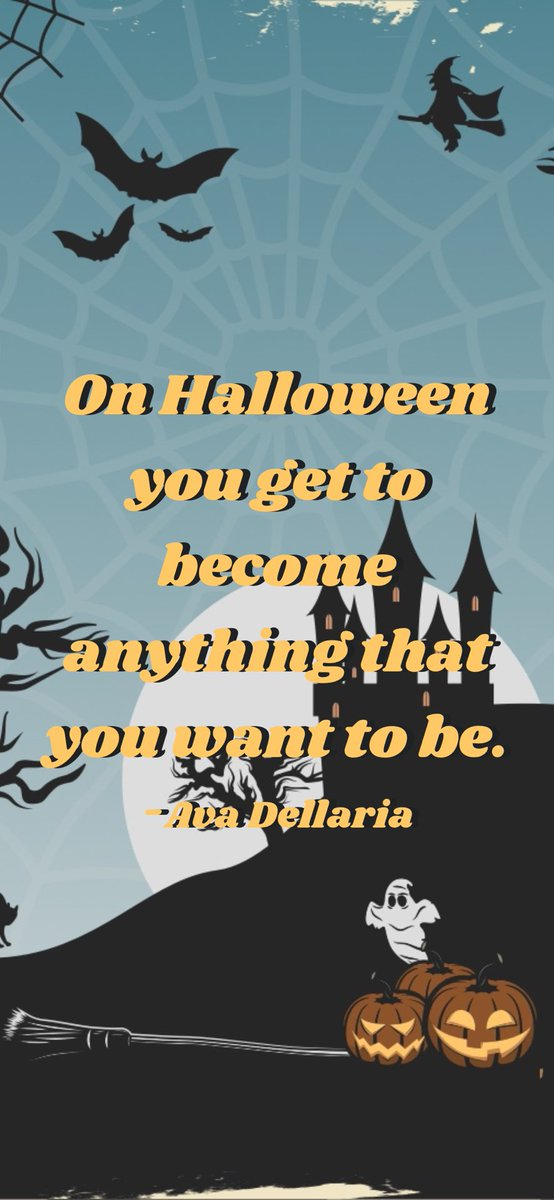 On Halloween you get to become anything that you want to be. -Ava Dellaria  From @AppMotivation #motivation #quote #motivationalquote  https://t.co/IzkWo9D243 https://t.co/4LtdBSeO3t