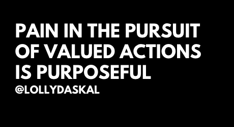 Pain in the pursuit of valued actions is purposeful ~ @LollyDaskal https://t.co/pVKqaI7YVf #TheLeadershipGap #Book #Leadership #Management #Motivation #Inspiration #Quote https://t.co/XHezxNw5Ko