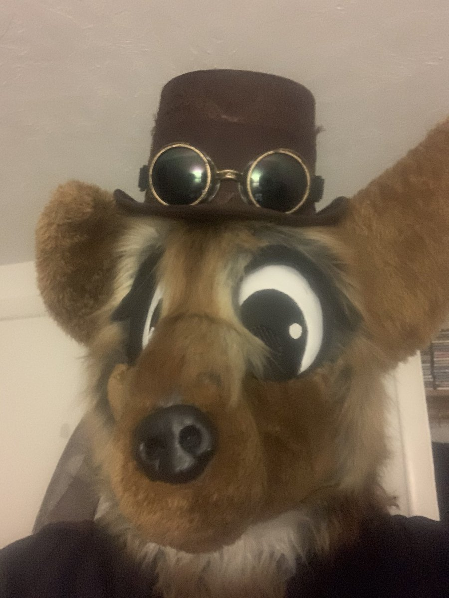 The u in steampunk stands for uwu #furry #fursuit #FursuitFriday #steampunk #Halloween