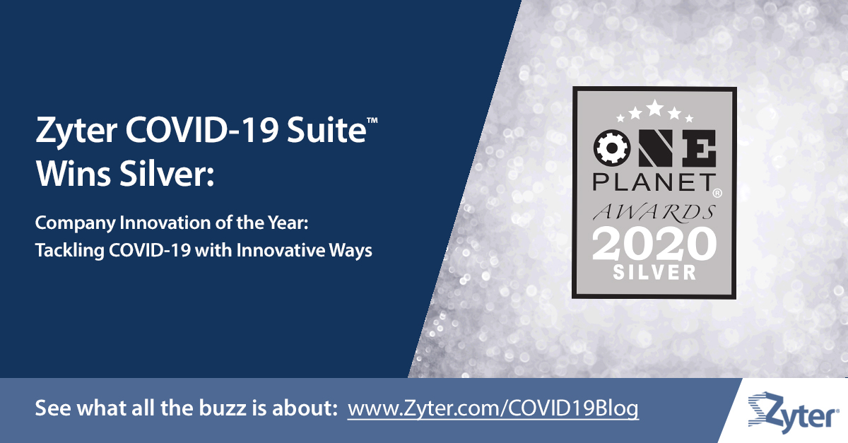Recently awarded Company Innovation of the Year by #OnePlanetAwards, #Zyter's #COVID19 Suite continues to help companies implement a layered #COVID19Defense.  Learn more at:  https://t.co/uzaGUDPJkE  #CompetitiveMarketingAdvantage #ChiefMarketingExec #eCommerceDigitalCMO https://t.co/M7aYBo2BtM