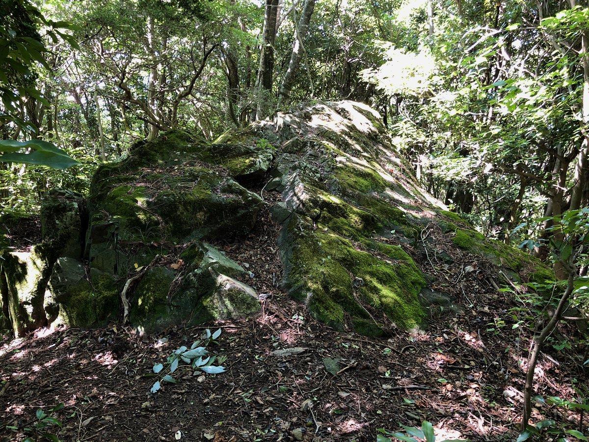 石楠花山 烏帽子岩 撮影日:9月19日 撮影場所:神戸市北区山田町上谷上 山頂から下りに入り、烏帽子岩に立ち寄りました。 https://t.co/Lxy1sVx5Nn https://t.co/IqJfCBYF6j