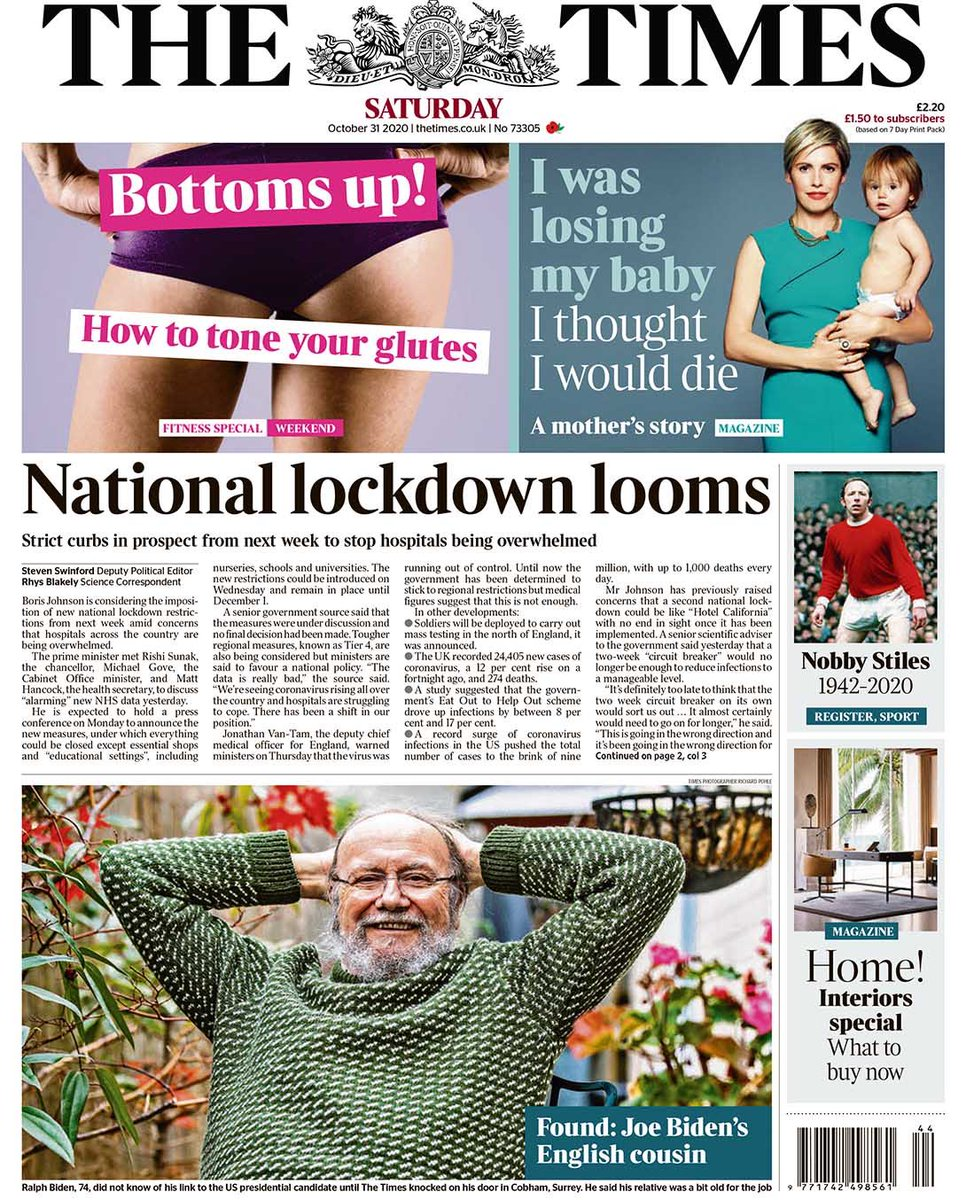 .#Lockdown2 #lockdown   Britain yet again expecting a National Lockdown 2 b announced next week due 2 worsening situation in #NHS hospitals due 2 #CoronavirusPandemic in t #UK  It's merry-go-round w people's health; I wish #Boris has gone on it as a child  #London #Pakistan #USA https://t.co/MxNOOT7saR