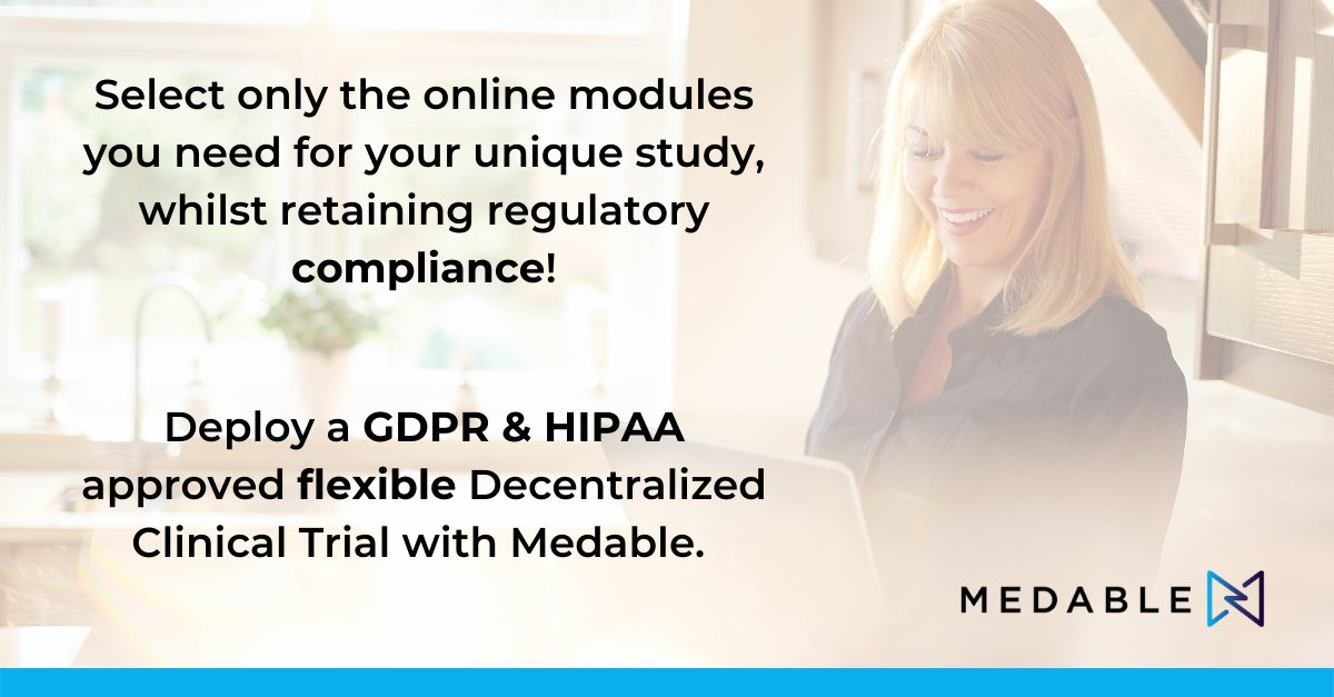 We enable flexibility in Decentralized Clinical Trials through a scalable, modular approach. But most importantly, we do so safely, securely, & respectfully. Learn how at https://t.co/rsamCag2YQ   #DCT #decentralizedtrials #GDPR #HIPAA https://t.co/E1G1vXyg5Q