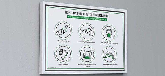 No dejes de informar a tus clientes sobre las normas que deben respetar en tu negocio o establecimiento para evitar el Covid19👉😷 Descarga este cartel GRATIS #Coronavirus #Covid19 #NormasCovid19 #Restaurante #Bar #CartelGratis #Club #Gimnasio #Hosteleria https://t.co/ZymInQwghh https://t.co/SqVuK2nvZh