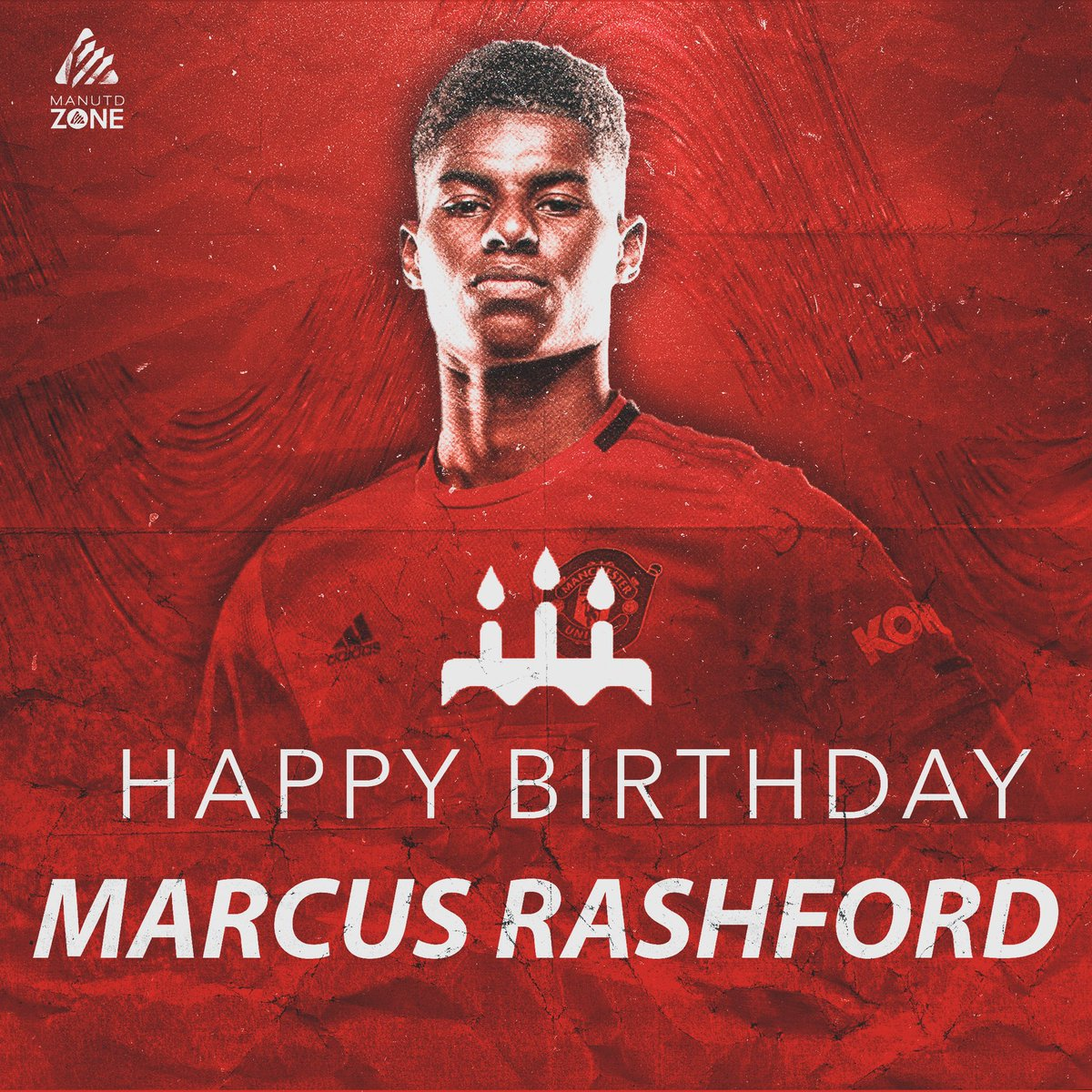 Happy birthday to @MarcusRashford, who turns 23 today! 🎉🔴 #MUFC https://t.co/bhvQtiFBUp
