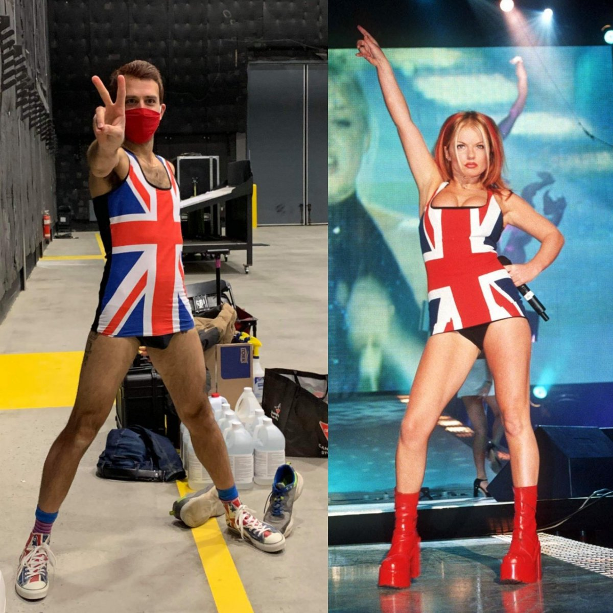 Halloween is a time to pay tributes to our idols sometime. #Halloween @GeriHalliwell  #unionjack #uk #unitedkingdom #unionjackdress @spicegirls #spicegirls https://t.co/QzpkhwHuaq