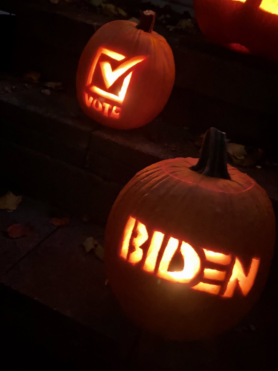 🎃 Pumpkins for Joe! There's nothing spookier this Halloween than the thought of four more years of Trump. #VoteHimOut @TeamJoe @OneCampaignMI @MichiganDems @TheDemocrats