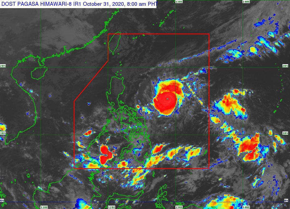 [8AM] Napanatili ng Typhoon #RollyPH ang lakas nito habang kumikilos ng pa-kanluran timog-kanluran sa Philippine Sea | via @dost_pagasa https://t.co/TL2rb8mj7K