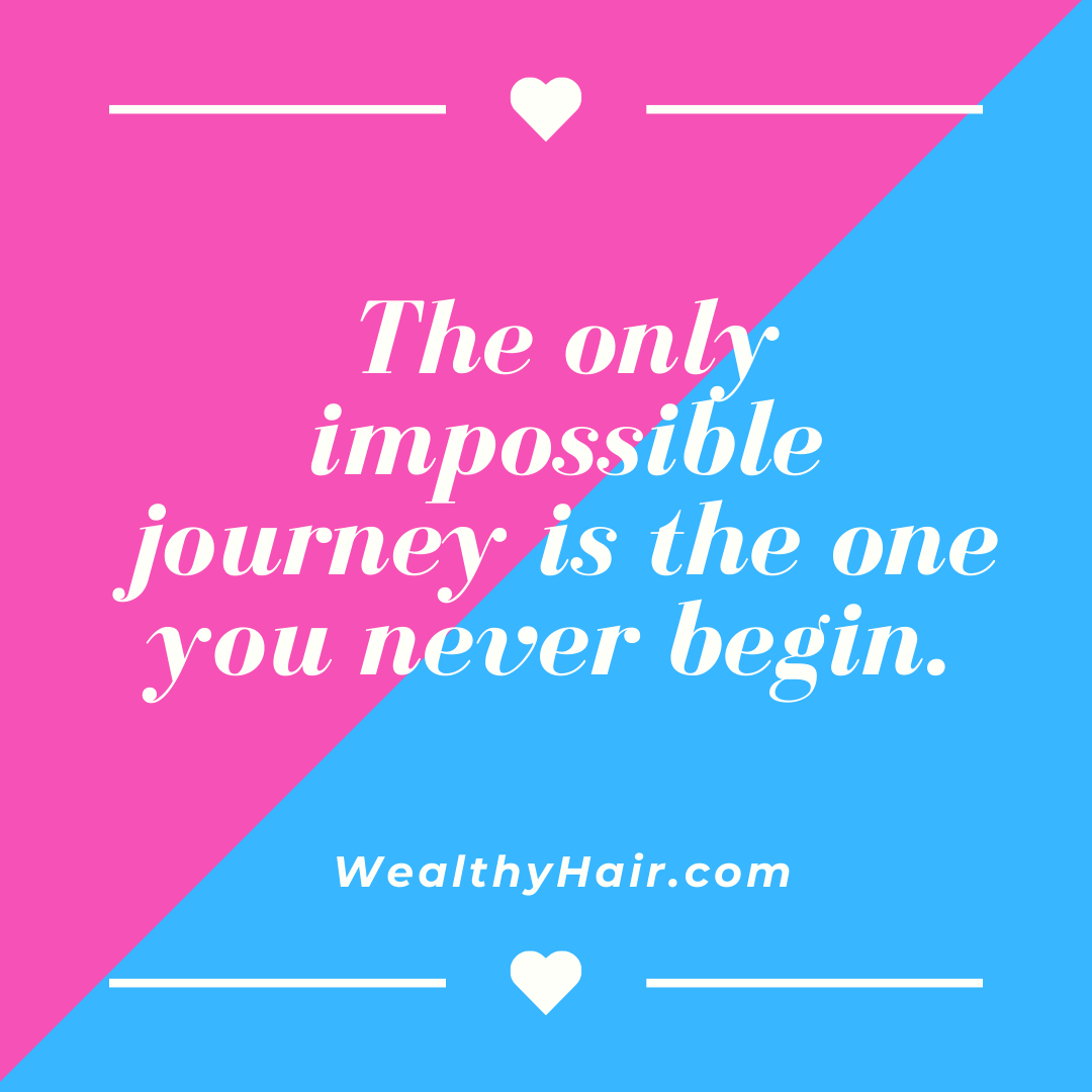 The journey of a thousand miles begins with one step.  #WealthyHair #motivation #entrepreneur #business #inspiration #goals #instagood #hustle #money #mindset #grind #wealth #businessowner #leadership #success #determination #dedication #passion https://t.co/2k4XIOQAd5