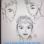 Image for the Tweet beginning: Blue Stinger doodles also Eliot