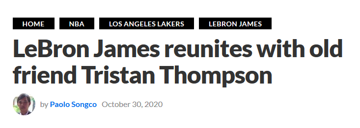 加盟湖人?湯普森和詹姆斯共進晚餐,兩人親密互動引猜疑!-籃球圈