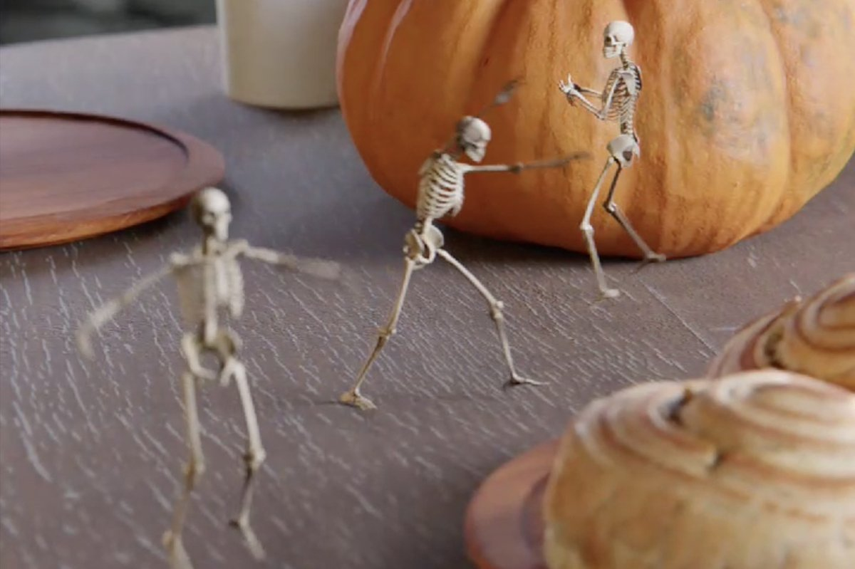 It's Halloween, so here are some mischievous skeletons