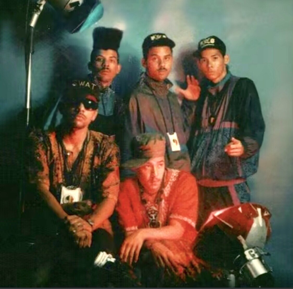 Greetings - this was a photo shoot for our 2nd @ProphetsOfDaCty album titled #BoomStyle in 1991/92. These pics were also used as publicity shots. The crew started to expand from this year onwards. #HipHop #history #southafrica https://t.co/vPo0b98VBQ